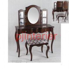 Toaletný stolík 86189 | PJinteriér Vanity, Mirror, Furniture, Home Decor, Dressing Tables, Powder Room, Decoration Home, Room Decor, Vanity Set