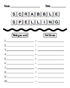 That's So Second Grade!: Homework Black Book & a Scrabble Spelling Freebie!