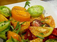 Heirloom Tomatoes with Tarragon from Ina Garten, Barefoot Contessa