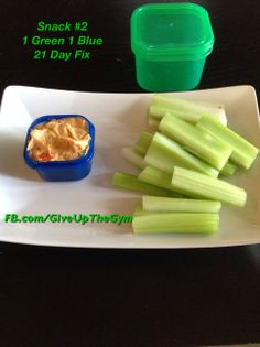 21 Day Fix Recipes - Celery and Roasted Red Pepper Hummus