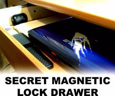 Today I will show you how to make a secret drawer below your table surface with the use of a hidden magnetic lock. The drawer is barely visible from.