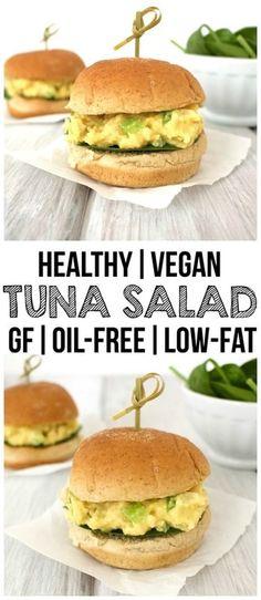 Healthy Vegan Tuna Salad (Gluten-Free, Oil-Free, Low-Fat!)