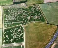 Containing 1.5 million individual plants, this maze --just outside York-- covers 32 acres, the equivalent of 15 football pitches, and was designed using satellite technology, which meant the paths could be cut to an accuracy of half a metre. The huge maze was created by Tom Pearcy as a tribute to the 40th anniversary of Star Trek.