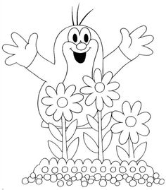 16 The Mole printable coloring pages for kids. Find on coloring-book thousands of coloring pages. Online Coloring Pages, Printable Coloring Pages, Colouring Pages, Coloring Pages For Kids, Coloring Books, La Petite Taupe, Quiet Book Templates, The Mole, Disney Tattoos