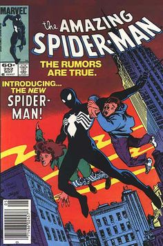The Amazing Spiderman #252 First black suit appearance  #spiderman #blacksuit #marvelcomics