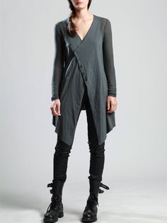 KNIT COTTON JACKET WITH TRANSPARENT SLEEVES - JACKETS, JUMPSUITS, DRESSES, TROUSERS, SKIRTS, JERSEY, KNITWEAR, ACCESORIES - Woman -