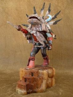 White Ogre Hopi Kachina Doll Milton Howard - Hand Carved Kachina Doll - Hopi Kachina Doll | Alltribes