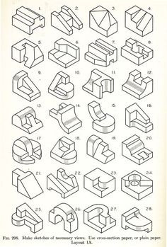 Drawing Tips Technical drawing Más Isometric Sketch, Isometric Art, Isometric Design, Isometric Shapes, Drawing Practice, Drawing Skills, Drawing Tips, Isometric Drawing Exercises, 3d Drawing Techniques