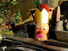 Basteln mit Kindern - Einfache Herbstdeko: Der Kartoffelkönig #andreameyer + DIY + Craft + Tutorial + Decoration + Kids + Kinder