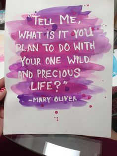 DIY Project: Watercolor Quote