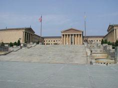 Philidelphia Art Museum where Rocky ran up the stairs (Done) I Ran a marathon here.