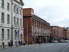 Arlington Hotel, Lord Edward Street, Dublin Dublin City - Buildings of Ireland Timber Windows, Casement Windows, Arlington Hotel, Portland Stone, Red Brick Walls, Timber Panelling, Slate Roof, Dublin City, Front Elevation