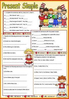 simple present tense worksheets | ESL | Pinterest | Present tense ...