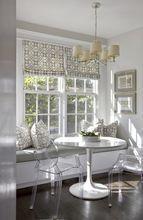Windsor Smith PELAGOS Kitchen Roman Shade and Pillows in Mist - Kitchen Designs - Kitchen Styles - Kitchen Inspiration - Dining Room - Beautiful Kitchen - Beautifully Decorated Kitchen - Interior Designs
