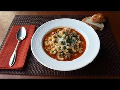 Sausage Pasta Fazool (Pasta e Fagioli Recipe) - How to Make Pasta Fazool - YouTube