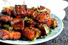 An indulgent dish - Easy Baked Pork Belly is slightly spicy with hints of saltiness and sweetness; it's super moist and super delicious! Fried Pork Belly Recipe, Pork Belly Recipe Oven, Pork Bowl Recipe, Pork Belly Recipes, Chicken Recipes, Chicken Marinades, Pork Bacon, Baked Pork, Crispy Pork