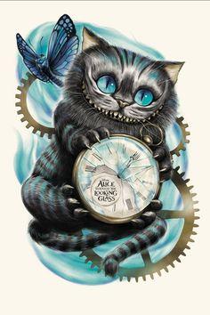 Time is ticking go with cat and come never back nimmernimmer en weet terug daarna naar wonderland...