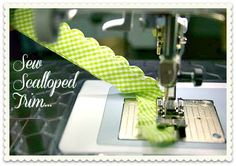 How to Create Scalloped Piping on Your Sewing Machine + Sewing Machine Needle Information
