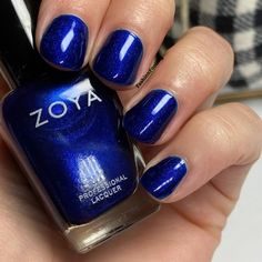 Zoya Nail Polish in Jen Pretty Nail Colors, Pretty Nails, Mani Pedi, Manicure, Cute Summer Nails, Blue Nail Polish, Nail Games, Glitter Nail Art, Sally Hansen