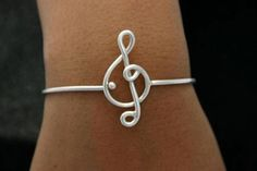 Music Note Bracelet Sterling Silver Jewelry style 9. Music festival favorite..music note sterling silver bracelet bangle..fits wrist size 7 inches. Custom listing available for larger sizes,,let us…MoreMore #SilverJewelry