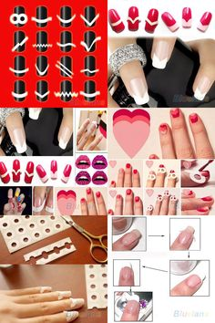 [Visit to Buy] 2016 New 2Pcs Chic DIY 18 Style French Manicure Nail Art Tips Tape Sticker Guide Stencil  6Q36 7GYF 8LD5 #Advertisement