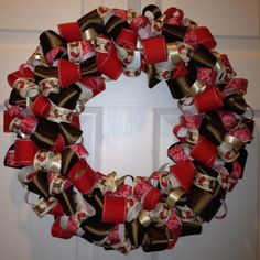 Western Theme Ribbon Wreath that I made!!