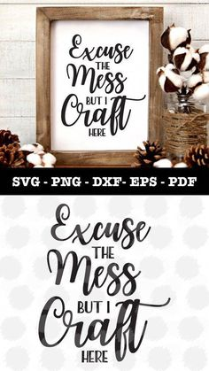 Craft Here Svg file for Cricut and Silhouette in my Etsy shop! Wine Bottle Crafts, Mason Jar Crafts, Mason Jar Diy, Do It Yourself Decoration, Cuadros Diy, Ideas Para Organizar, Craft Quotes, Quote Crafts, Cricut Creations