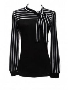 blouse fashion on sale at reasonable prices, buy 2017 Zanzea Fashion OL Tops Women Ladies Autumn Blusas Stripe Lantern Long Sleeve Turtleneck Bowknot Slim Shirts Blouse from mobile site on Aliexpress Now! Long Sleeve Turtleneck, Long Sleeve Tops, Striped Turtleneck, Trendy Fashion, Womens Fashion, Fashion Black, Spring Fashion, Style Fashion, Ladies Fashion