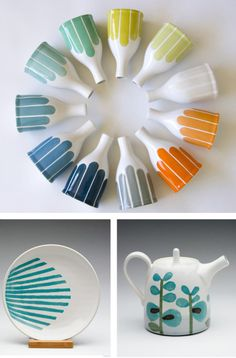 Time of ceramics . . .how gorgeous would this be?!  A stunner of an art piece on a kitchen or living room shelf!