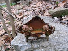 How To Make Fairy Furniture | ... make believe / gotta check out this site for lots more fairy furniture #fairyfurniture