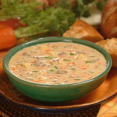 Cheeseburger Soup combines fresh vegetables, meat, cheese and evaporated milk to make a hearty soup. This can be a complete meal. Serve it on a cool fall or winter's day or evening. This will become a family favorite.