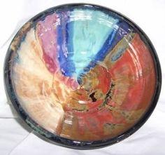wheel thrown pottery ideas   Amazon.com: Rainbow Wheel Thrown Serving Bowl 4 weeks to ship: Kitchen ...