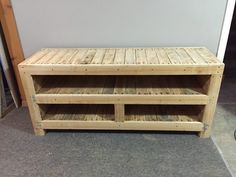 Pallet Entertainment Unit TV Stand & Rack