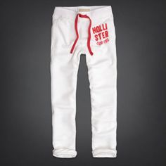 Hollister by Abercrombie and Fitch!New Mens White Classic Sweatpants-Small-Large Hollister Sweatpants, Hollister Clothes, Preppy Style, Joggers, Trousers, Hoodies, Classic, Men's Shirts, How To Wear