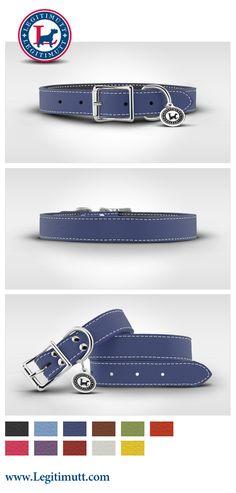 bb6e1d3c9929 Luxury Designer Leather Dog Collars, Leather Collar for Dogs   LEGITIMUTT Leather  Dog Collars,