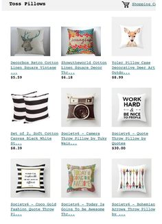 Great curation of inexpensive toss pillows. Click link to be taken to post.