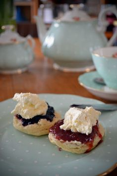 yummy~scones and jam and cream devonshire tea