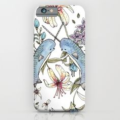 Just bought this from society 6 for my new iPhone 6s :) Yay Narwhals!!