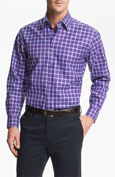 Robert Talbott Regular Fit Sport Shirt available at Nordstrom Dapper Gentleman, Gentleman Style, Mens Designer Shirts, Chain Reaction, Men's Fashion, Fashion Outfits, Dress For Success, Well Dressed Men, Looks Style