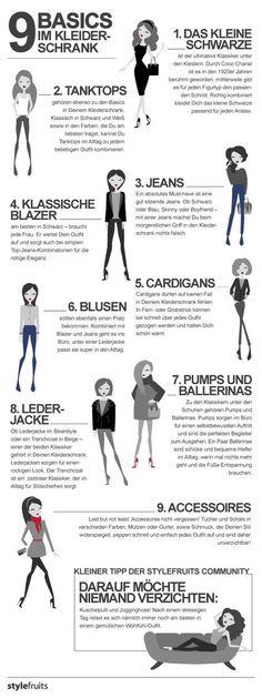 Die 9 Basics im Kleiderschrank (typberatung, Shopping-Berater)