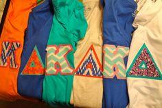 Kappa Delta Letter Shirts on Etsy
