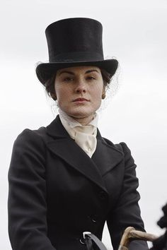 That amazing riding habit that Lady Mary wears in the series.