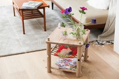 DIY wooden stool and