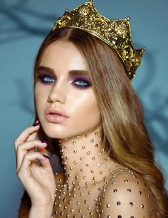 (More) Jordan Liberty makeup! Pretty violet hue on the eyes with glowing skin - definitely fit for royalty ;)