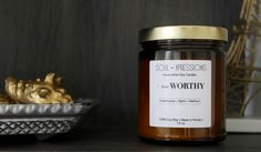 Handcratfed Soy Candles by Soul-Xpressions. Brightening more than just your home. #IAmWorthy