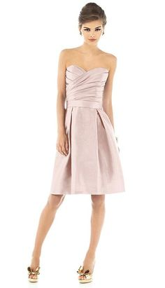 In grey though! Alfred Sung Short Bridesmaid Dress with Pockets D536 by Dessy
