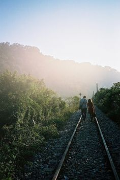 Well I've found myself attached to this rail road track, but I'll come back again to you. ~ first aid kit