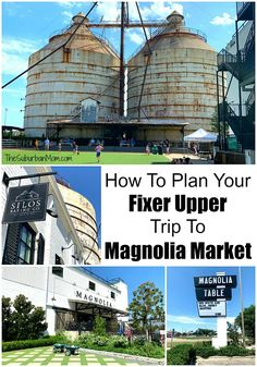 Tips to plan your Fixer Upper trip to Maganolia Market Waco TX. Visit the Silos, Magnolia Table, Silos Baking Co, The Little Shop on Bosque and more! Travel With Kids, Us Travel, Magnolia Market Waco, Cameron Park, Backpacking South America, Waco Tx, Road Trip Essentials, Roadside Attractions