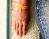 Orange Lace Bracelet Jewelry Plain Embroidered Bracelet for Wedding Bridal Lace Jewel Hand Designed Handmade Bracelet Jewel Hands, Lace Bracelet, Hand Designs, Bridal Lace, Handmade Bracelets, Fashion Accessories, Etsy Seller, Orange, Fashion Design