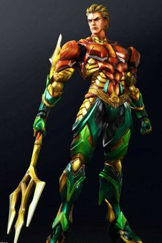 Square Enix has released new images of its DC Comics Variant Play Arts Kai Aquaman and Cyborg action figures. Aquaman Dc Comics, Arte Dc Comics, Dc Comic Books, Comic Book Heroes, Comic Art, Dc Comics Characters, Wonder Woman, Dc Heroes, Comic Character